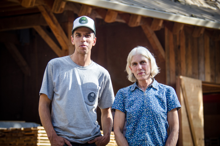 Ben Deumling of Zena Forest Products and his mother Sarah Deumling of Zena Woods.