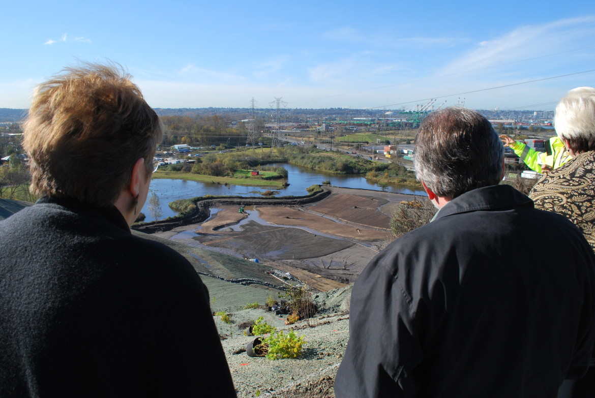 State lawmakers visiting a toxic cleanup site in 2010.