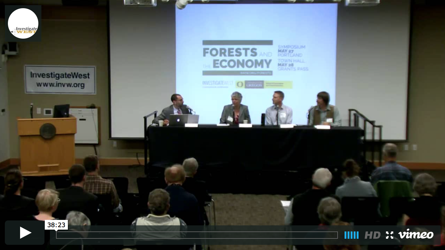 Watch clips from Oregon Forests and the Economy Symposium