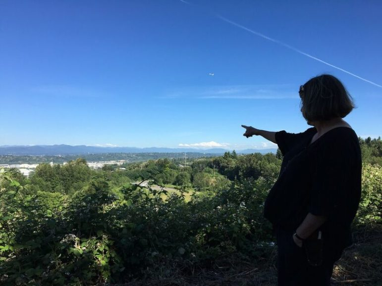 CassTurnbull and a handful of other green space activists from across Seattle have been battling the city for almost a year to keep this green canopy from being transformed into acres of asphalt and concrete.