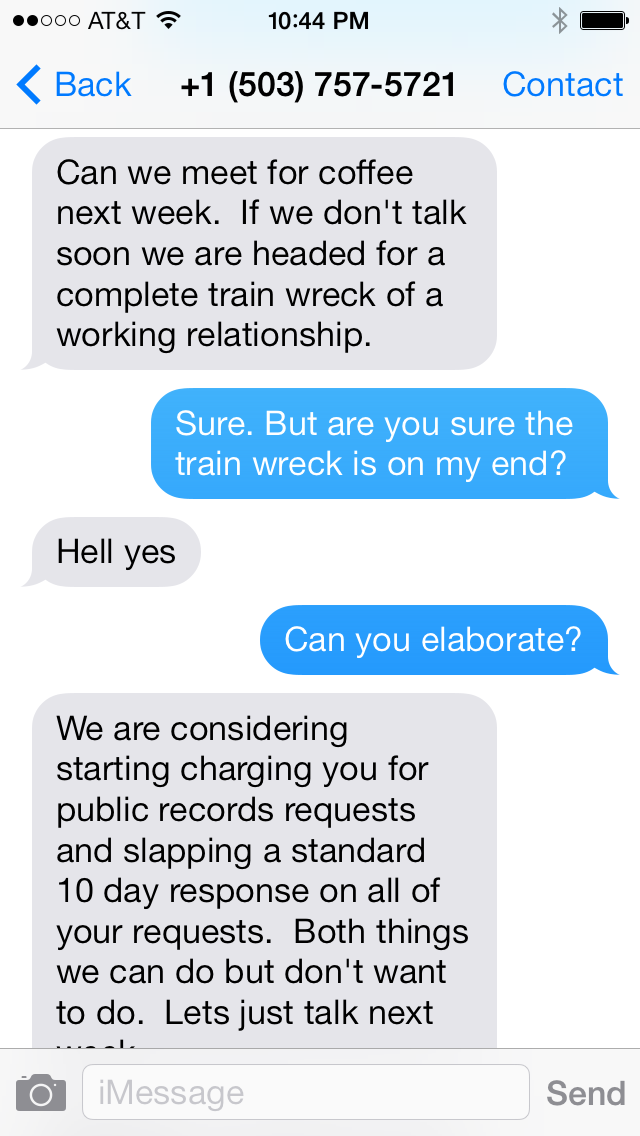 Jon Isaacs, as chief spokesman of Portland Public Schools, took clear aim at WillametteWeek reporter Beth Slovic in a text message exchange.