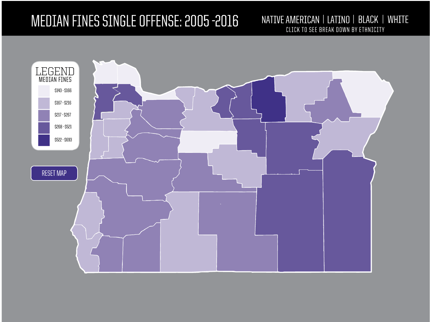 Justice disparate by race in Oregon