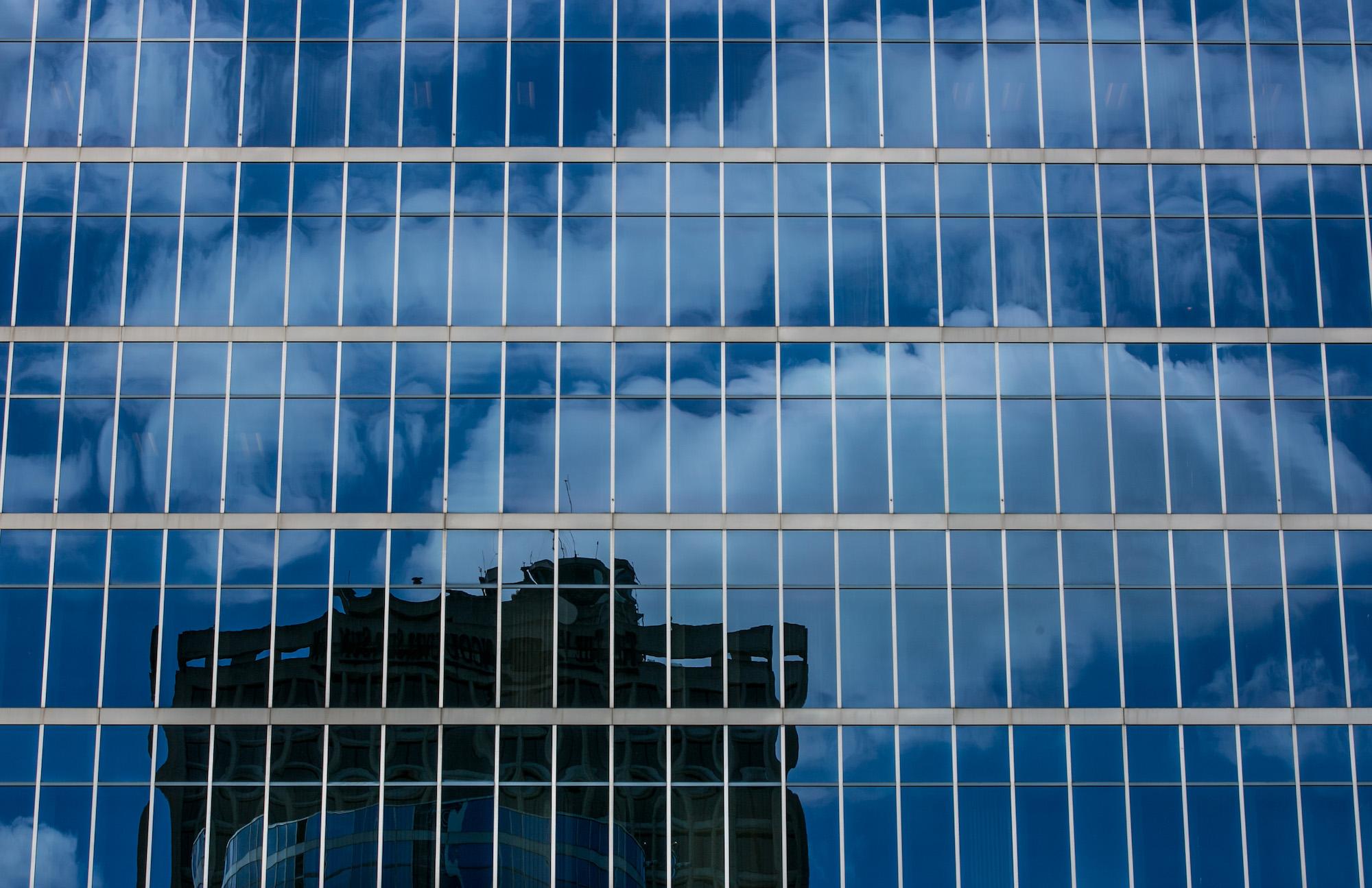 Windows of a skyscraper.